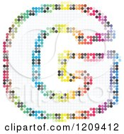 Clipart Of A Colorful Pixelated Capital Letter G Royalty Free Vector Illustration
