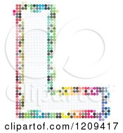 Clipart Of A Colorful Pixelated Capital Letter L Royalty Free Vector Illustration