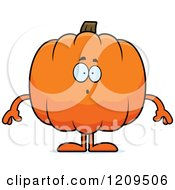 Cartoon Of A Surprised Pumpkin Mascot Royalty Free Vector Clipart by Cory Thoman