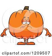 Cartoon Of A Sick Pumpkin Mascot Royalty Free Vector Clipart by Cory Thoman