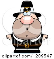 Cartoon Of A Surprised Male Pilgrim Man Royalty Free Vector Clipart