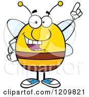 Happy Bee With An Idea