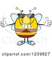 Cool Bee Holding Two Thumbs Up