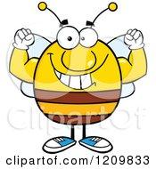 Happy Bee Flexing