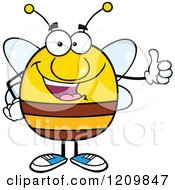 Happy Bee Holding A Thumb Up