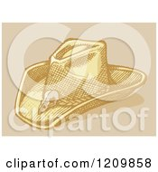 Clipart Of A Sketched Stetson Cowboy Hat Royalty Free Vector Illustration by Any Vector