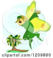 Fairy Flying Near A Tree