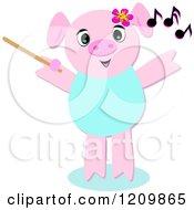 Music Composer Pig Waving A Wand