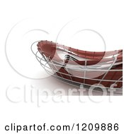 Clipart Of A 3d Abstract Red Architectural Structure On White 3 Royalty Free CGI Illustration