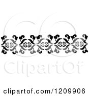 Clipart Of A Black And White Page Border Rule Royalty Free Vector Illustration