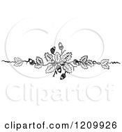 Clipart Of A Black And White Acorn Design Element Royalty Free Vector Illustration