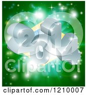 Clipart Of A Brazilian Flag With 3d Year 2013 And Fireworks Royalty Free Vector Illustration