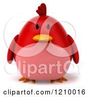3d Chubby Red Bird