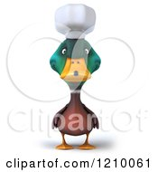 Clipart Of A 3d Mallard Duck Chef Royalty Free CGI Illustration