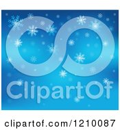 Clipart Of A Blue Snowflake Background Royalty Free Vector Illustration