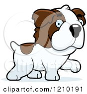 Cartoon Of A Walking St Bernard Dog Royalty Free Vector Clipart