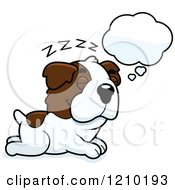 Cartoon Of A Dreaming St Bernard Dog Royalty Free Vector Clipart