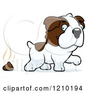Cartoon Of A St Bernard Dog Pooping Royalty Free Vector Clipart by Cory Thoman