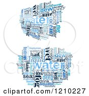 Clipart Of A Word Collage Of Blue Water Words Royalty Free Vector Illustration by Vector Tradition SM