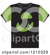 Clipart Of A T Shirt With Elderly Hands In A Heart Royalty Free Vector Illustration