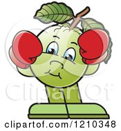 Clipart Of A Guava Mascot Wearing Boxing Gloves Royalty Free Vector Illustration by Lal Perera