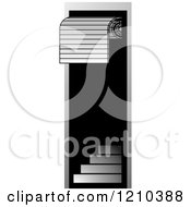 Clipart Of A Roller Door And Stairs Royalty Free Vector Illustration