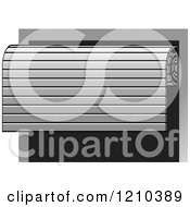 Clipart Of A Roller Door Half Opened Royalty Free Vector Illustration by Lal Perera