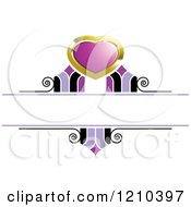 Clipart Of A Gold Purple And Black Wedding Design Element Royalty Free Vector Illustration