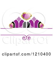 Clipart Of A Gold Purple And Black Wedding Design Element 2 Royalty Free Vector Illustration