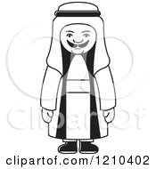 Clipart Of A Black And White Arabic Man Royalty Free Vector Illustration by Lal Perera