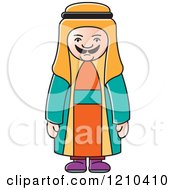 Clipart Of An Arabic Man Royalty Free Vector Illustration by Lal Perera