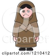 Clipart Of An Unhappy Arabic Woman Royalty Free Vector Illustration by Lal Perera