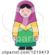 Clipart Of An Arabic Woman Royalty Free Vector Illustration by Lal Perera