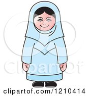 Clipart Of A Happy Arabic Woman Royalty Free Vector Illustration by Lal Perera