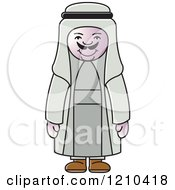 Clipart Of A Happy Arabic Man Royalty Free Vector Illustration by Lal Perera