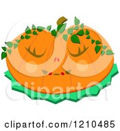 Halloween Jackolantern Pumpkin With Vines