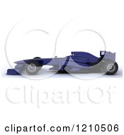 Clipart Of A 3d Blue Forumula One Race Car Royalty Free CGI Illustration by KJ Pargeter