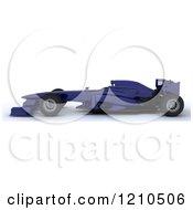 Clipart Of A 3d Blue Forumula One Race Car Royalty Free CGI Illustration