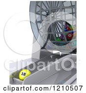 Clipart Of A 3d Bingo Bal Dispenser And One Ball Royalty Free CGI Illustration by KJ Pargeter