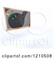 Clipart Of A 3d Black Slate Board With Back To School Magnets Royalty Free CGI Illustration