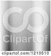 Clipart Of A 3d Silver Perforated Metal Background Royalty Free Vector Illustration