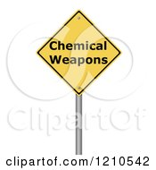 Clipart Of A 3d Chemical Weapons Warning Sign Royalty Free CGI Illustration