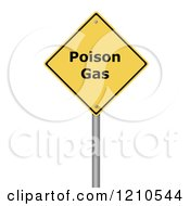 Clipart Of A 3d Poison Gas Warning Sign Royalty Free CGI Illustration