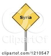 3d Syria Warning Sign