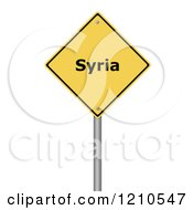 Clipart Of A 3d Syria Warning Sign Royalty Free CGI Illustration by oboy