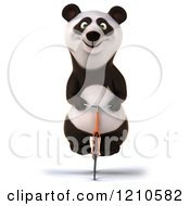 Clipart Of A Happy Panda Bear Riding A Bicycle Royalty Free CGI Illustration