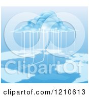 Clipart Of A Cloud Computing Information Royalty Free Vector Illustration by AtStockIllustration