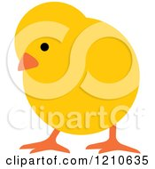 Clipart Of A Yellow Chick Royalty Free Vector Illustration