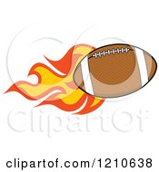 Cartoon Of A Flaming American Football Royalty Free Vector Clipart by Hit Toon