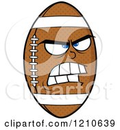 Cartoon Of A Mad American Football Mascot Royalty Free Vector Clipart
